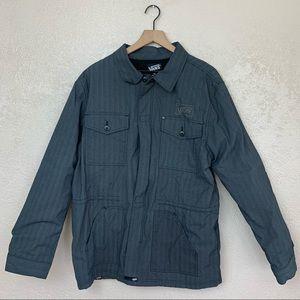 Vans men's long sleeve zip up/button/velcro jacket